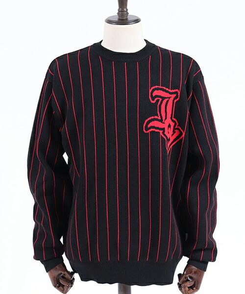 【JOY RICH(ジョイリッチ)】Pinstripe Joy Sweater  ニット(1840100303)