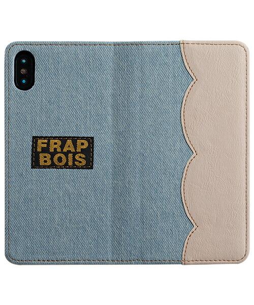 【Gizmobies(ギズモビーズ)】FRAPBOIS iPhoneX・Xs手帳ケース SCALLOP WHITE(AB-0836-IP0X)