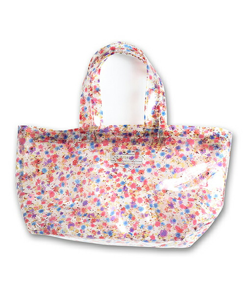 【ANSEASON ANREALAGE】flower pvc tote bag - small トートバッグ(19sasac01)