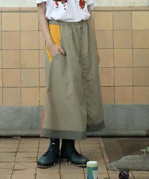【STOF(ストフ)】メルティングポットワイドスカート(SF19SS-08)