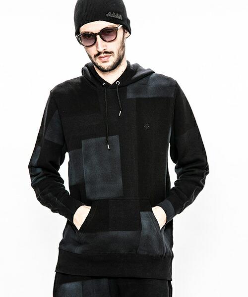 【ACANTHUS(アカンサス)】patchwork hand dyehooded sweatshirt パーカー(HJ1902)