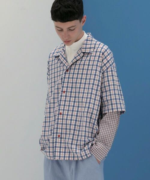 【SUPERTHANKS(スーパーサンクス)】レイヤードビックシャツ(ST191SH002)