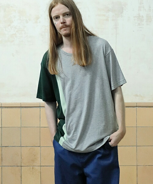 【STOF(ストフ)】メルティングGIZA配色Tシャツ(SF19SS-29)