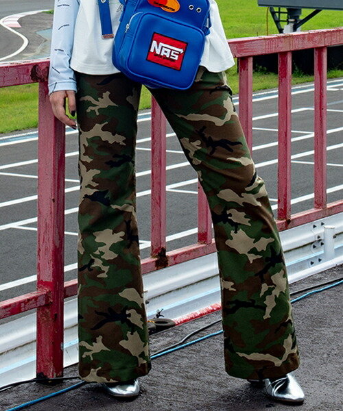 【TENDER PERSON(テンダーパーソン)】CAMO FLARE PANTS フレアパンツ(RS-PT-1114)