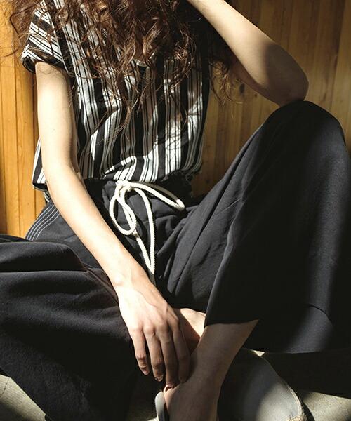 【RIVER(リバー)】カラーステッチワイドパンツ(S19006)