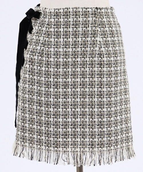 【SNIDEL(スナイデル)】ツイードミニサイドリボンSK スカート(SWFS185095)