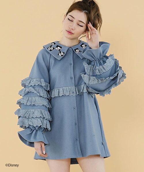 【Little sunny bite(リトルサニーバイト)】DISNEY ( 101 Dalmatians ) ★ LITTLE SUNNY BITE - Big collar frill dress ドレス(LSB-LOP-161K)