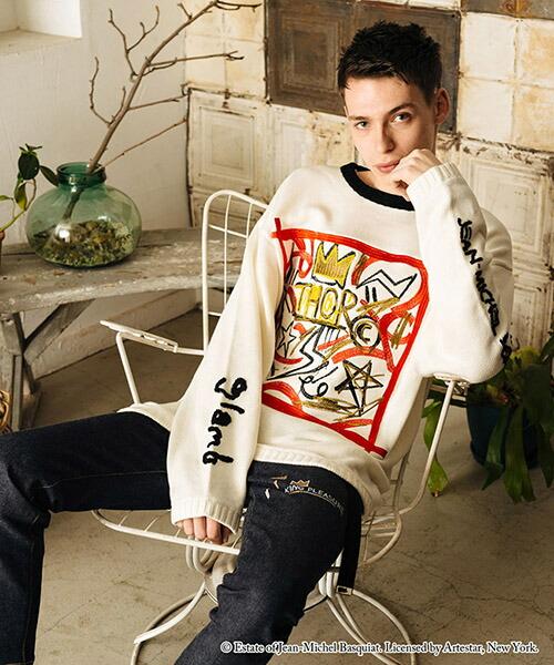 【glamb(グラム)】Basquiat big knit バスキアビッグニット(GB15ANV-BQ13)