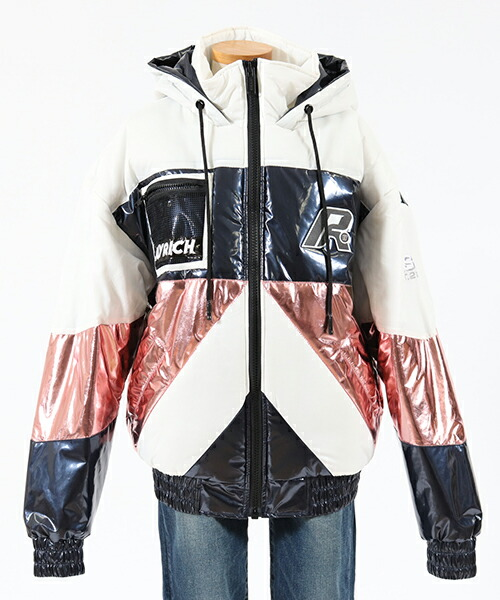 【JOY RICH(ジョイリッチ)】Multi Color Retro Puffy Jacket - CREAM ジャケット(1840100134)