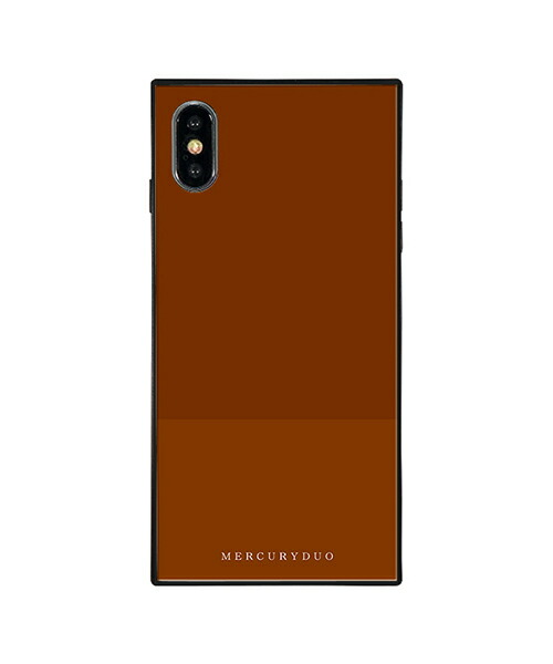 【Gizmobies(ギズモビーズ)】MERCURYDUO iPhoneXS MAX背面ケース BI COLOR CHOCOLATE(BJ-0004-IPXM-BRWN)