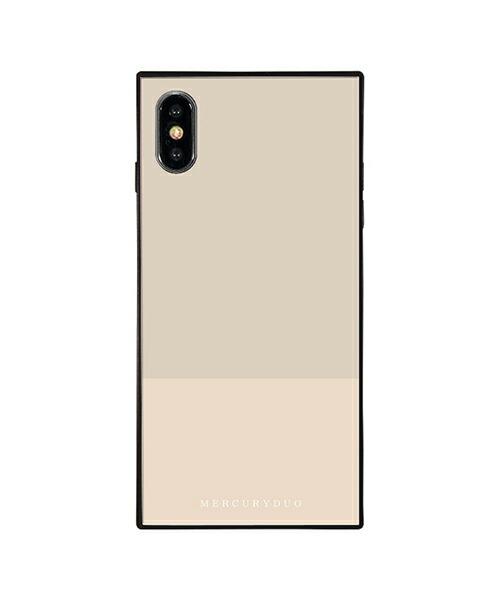 【Gizmobies(ギズモビーズ)】MERCURYDUO iPhoneXS MAX 背面ケース BI COLOR SESAMI(BJ-0004-IPXM-GRAY)