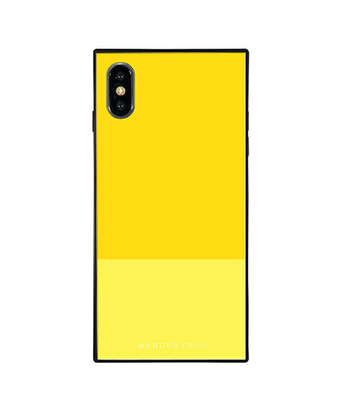 【Gizmobies(ギズモビーズ)】MERCURYDUO iPhoneXS MAX背面ケース BI COLOR LEMON(BJ-0004-IPXM-YELL)