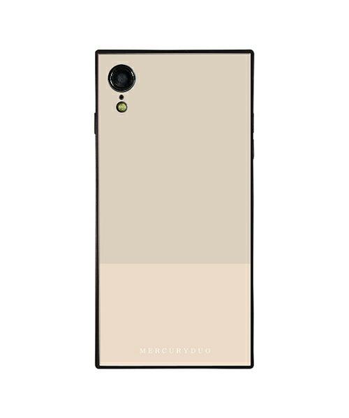 【Gizmobies(ギズモビーズ)】MERCURYDUO iPhoneXR背面ケース BI COLOR SESAMI(BJ-0004-IPXR-GRAY)