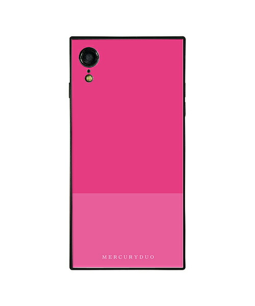 【Gizmobies(ギズモビーズ)】MERCURYDUO iPhoneXR背面ケース BI COLOR RASPBERRY(BJ-0004-IPXR-HTPK)