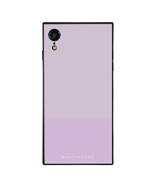 【Gizmobies(ギズモビーズ)】MERCURYDUO iPhoneXR背面ケース BI COLOR LAVENDER(BJ-0004-IPXR-LILA)