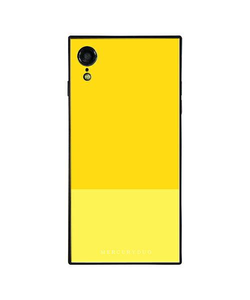 【Gizmobies(ギズモビーズ)】MERCURYDUO iPhoneXR背面ケース BI COLOR LEMON(BJ-0004-IPXR-YELL)
