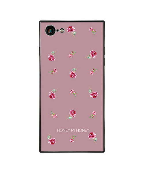 【Gizmobies(ギズモビーズ)】HONEY MI HONEY iPhone7.8背面ケース PINK ROSE PINK(AB-0956-IP78-LILA)