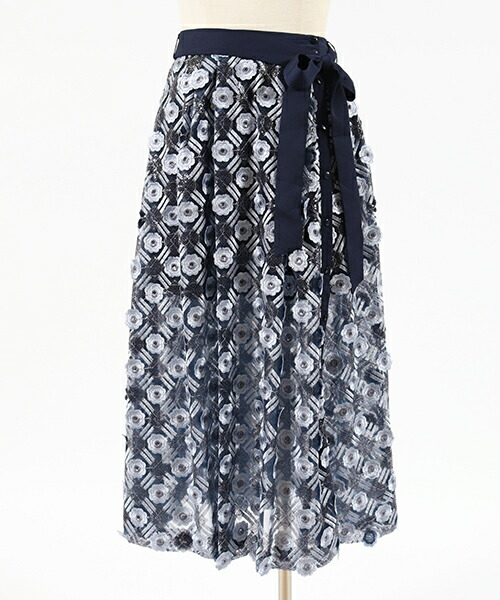 【Lily Brown(リリーブラウン)】スパンコール刺繍スカパン(LWFP186006)