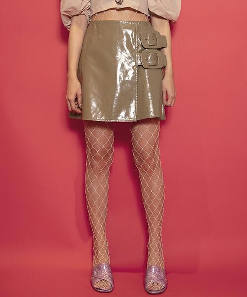 【FICTION TOKYO(フィクション トーキョー)】Enamel Belt Skirt スカート(F19SS-SK01)