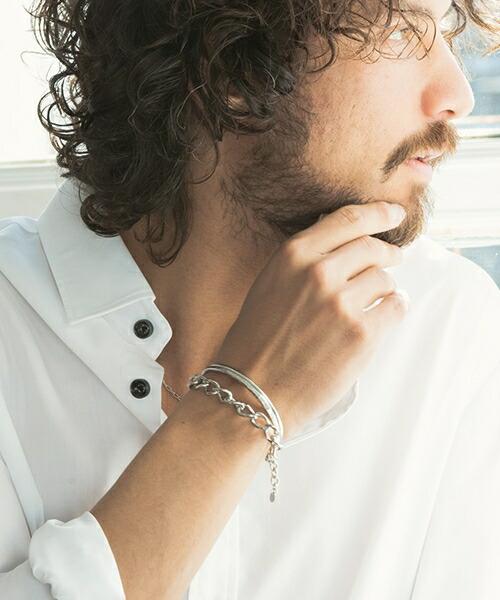 【CAMBIO(カンビオ)】Different Type Mix Chain  Bracelet ブレスレット(C093)