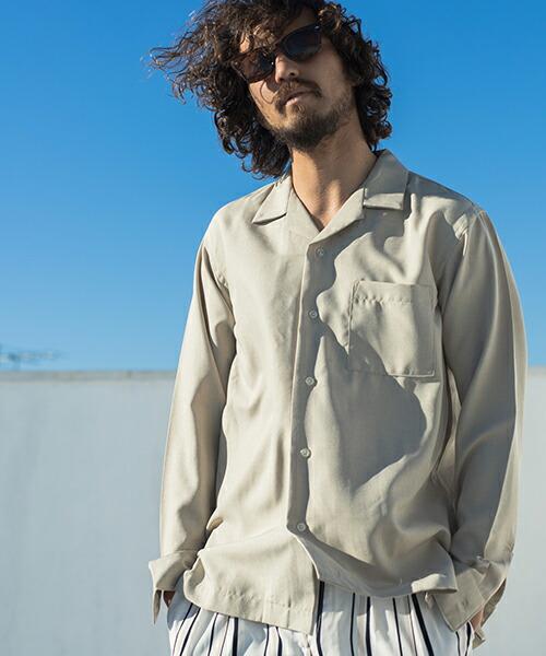 【CAMBIO(カンビオ)】トロピカルオープンカラーL-Sシャツ