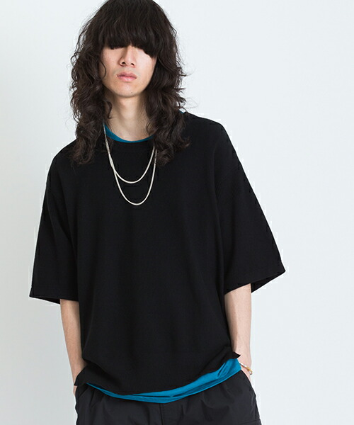 【VICTIM(ヴィクティム)】KNIT TEE Tシャツ(VTM-19-N-042)