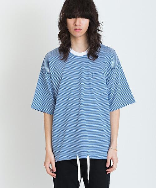 【VICTIM(ヴィクティム)】BIG BORDER TEE Tシャツ(VTM-19-T-043)