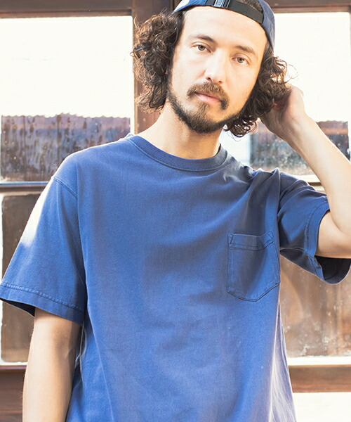 【CAMBIO(カンビオ)】Pigment Dyed Short Sleeve Pocket Tee Tシャツ(CMB-5-029)