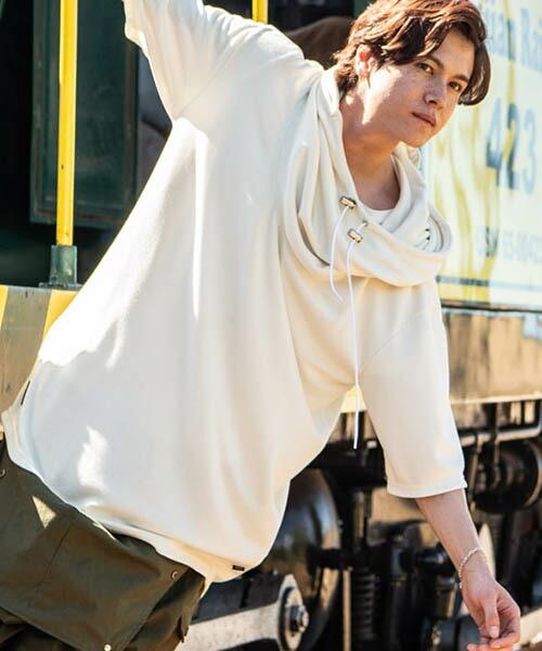 【glamb(グラム)】 Jonathan drape hoodie ジョナサンドレープフーディー(GB0219-CS16)