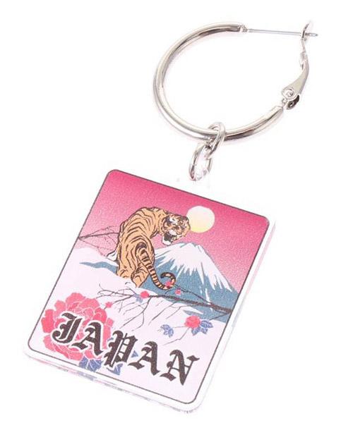 【jouetie(ジュエティ)】JAPANキーホルダーピアス(081910900901)