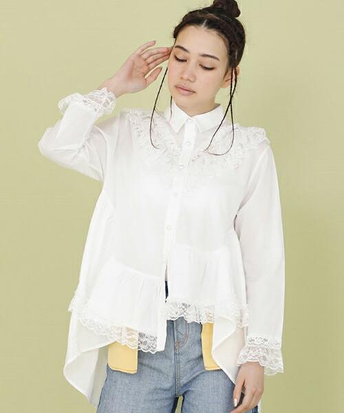 【Little sunny bite(リトルサニーバイト)】Frilled blouse ブラウス(LSB-LBL-124L)