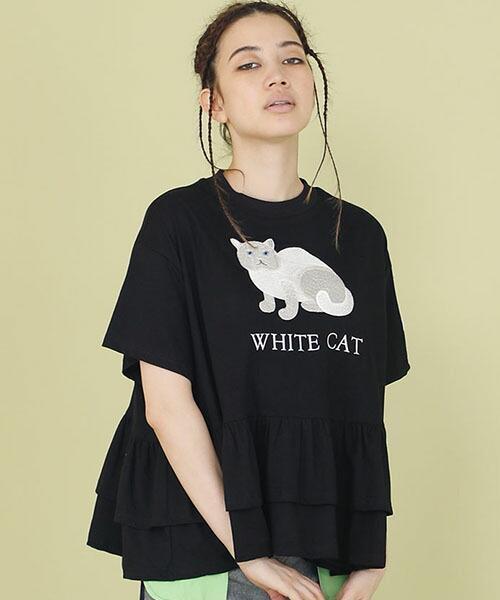 【Little sunny bite(リトルサニーバイト)】little sunny bite × Clap Clap : Stiched frill tee Tシャツ(LSB-LTOP-156L)