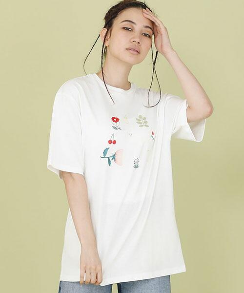 【Little sunny bite(リトルサニーバイト)】little sunny bite ×Clap Clap animals tee Tシャツ(LSB-LTOP-162L)