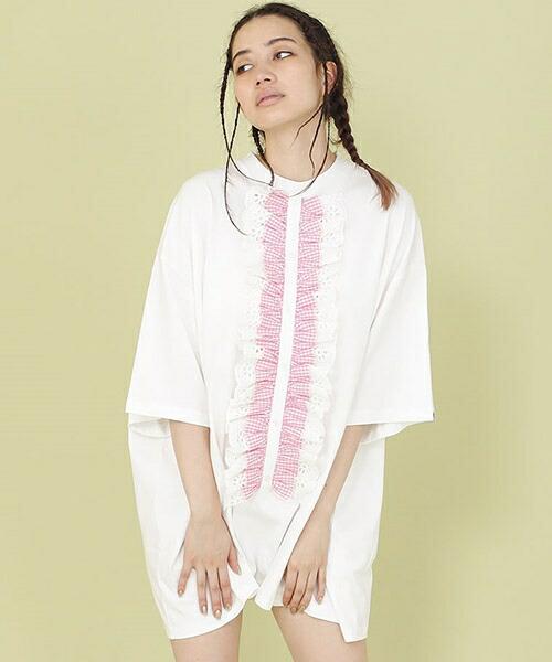 【Little sunny bite(リトルサニーバイト)】FRILL BIG TEE Tシャツ(LSB-LOP-118L)