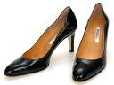 Crosscut with stitch & heel round toe pumps/heels 8 cm