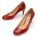 Is, and there is enamel ☆ まる ... red ...; plane pumps / enamel heel 7cm that go berserk, and is pretty of the toe