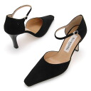 And separates look fall/winter limited edition suede material ☆ beautiful ankle strap suede 8 cm heel