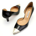 Pure pumps / metallic & enamel heel 6cm of the line of the by color combination ☆ side-opening