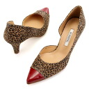 Pumps /REDE/BGP, heel 6cm that it is red in a panther pattern, and the line of the accent ☆ side-opening is clean