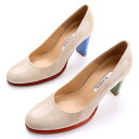 Round toe pumps /RB & OG, heel 8.5cm that the enamel of the spring new color ☆ colorful & nudie color has a cute