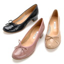 With the enamel & punching enamel specifications ☆ ribbon is ballerina pumps / heel 4cm of the heel slightly