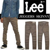 Lee(リー)JEGGERS SKINNY(ジェガーズ スキニー)新感覚♪ メンズラインのデニムレギンス!!LM0300-483 ブラックユーズド