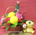사자 그림 첨부 신년 꽃꽂이 (꽃) & 레이프/손짓 세트 FL-NY-020