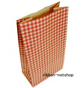 Paper bag ☆ have hands-free dings gingham 2 red (S3) HUKUN-60