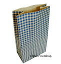 Paper bag ☆ have hands-free dings gingham 2 blue (S3) HUKUN-57