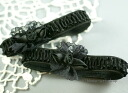-Armband-lace ruffled line-rose (black) L size AB-143