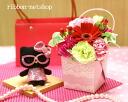 계절의 꽃 미니 우유 BOX 꽃꽂이 (꽃) 및 헬로 키티 (안경) 마스코트 세트 FL-AR-293