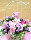 Aroma bear with ♪ rindou pink and seasonal flower flower arrangement ( flower ) FL-9GT-13