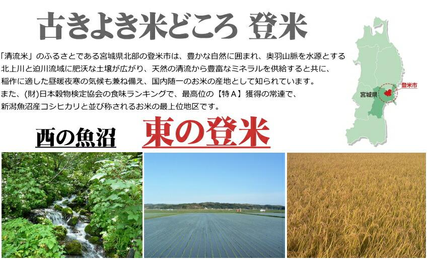 平成28年度宮城県登米産ササニシキ 登米市は新潟県南魚沼市に勝るとも劣らない古くからの米どころ