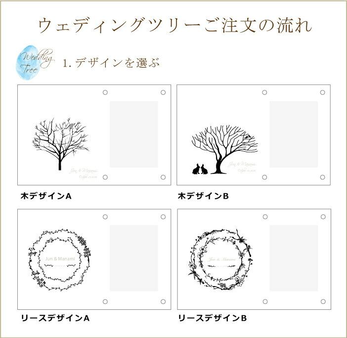 ウェディングリースの注文方法を説明 選べるデザインの画像